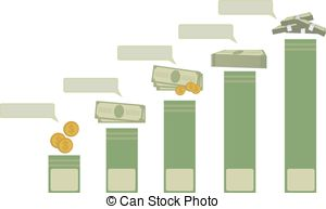 Clipart of Cash Equivalent blank business diagram illustration.