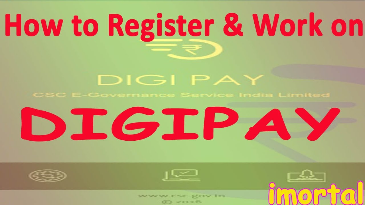 How to Register and Work on DIGIPAY Go Cash Less Go Digital.
