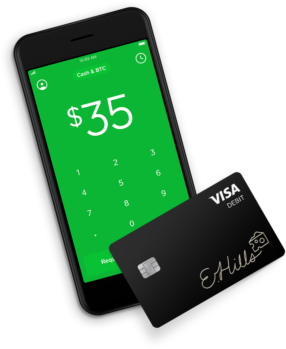 Cash app and debit card are a nice combo for modern banking.