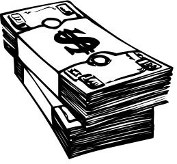 Cash Clipart Black And White.