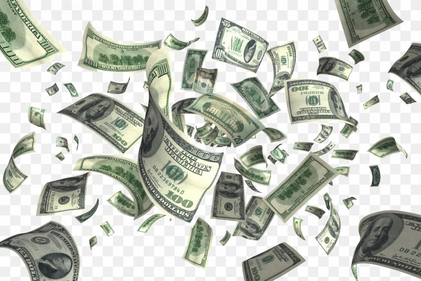 Clip Art Money United States Dollar Flying Cash, PNG.