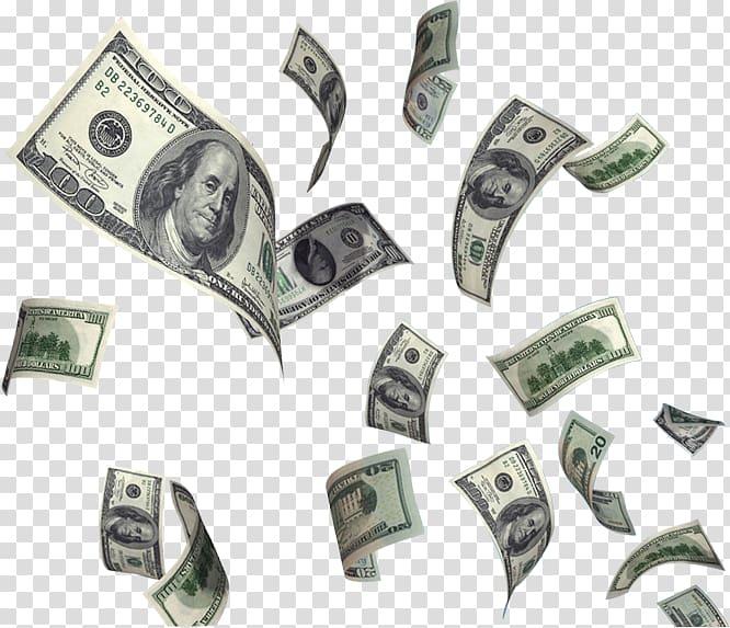 United States Dollar Money Flying cash, Dollar Flying Money , 100 US.