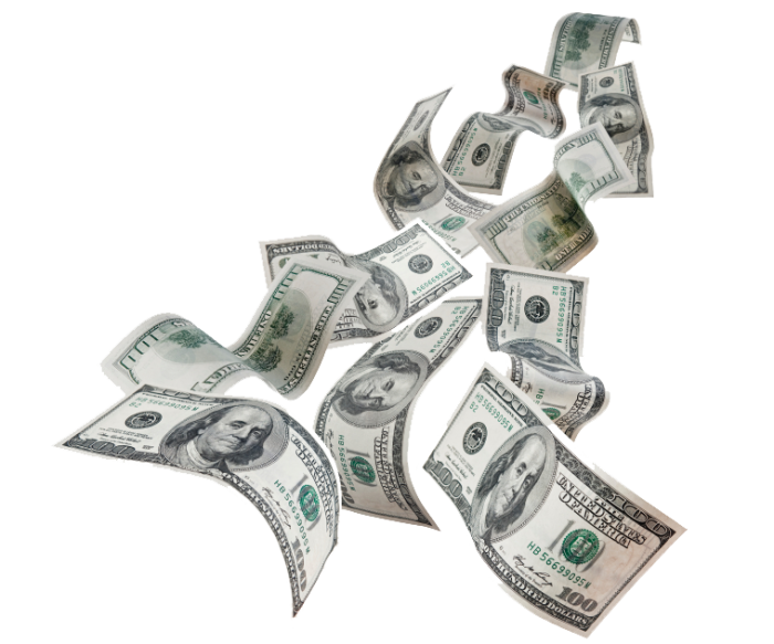 Cash Flying Png Vector, Clipart, PSD.