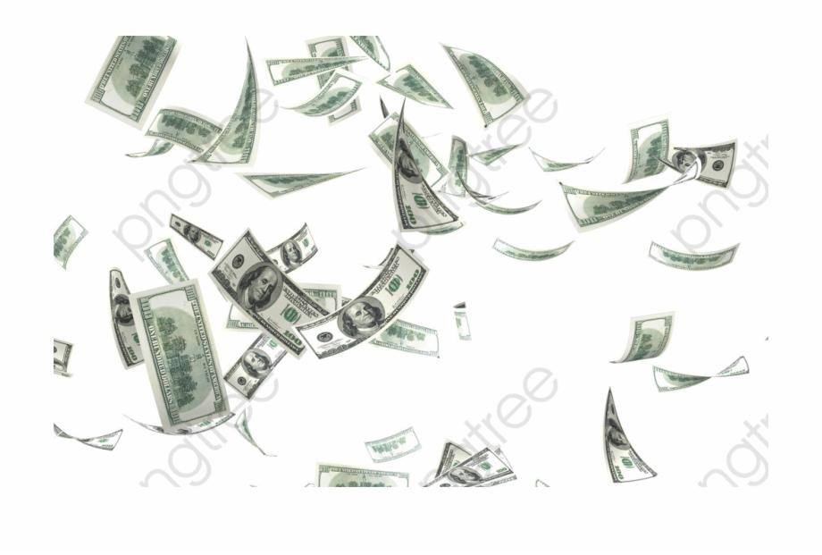 Flying Money Png Transparent Background.