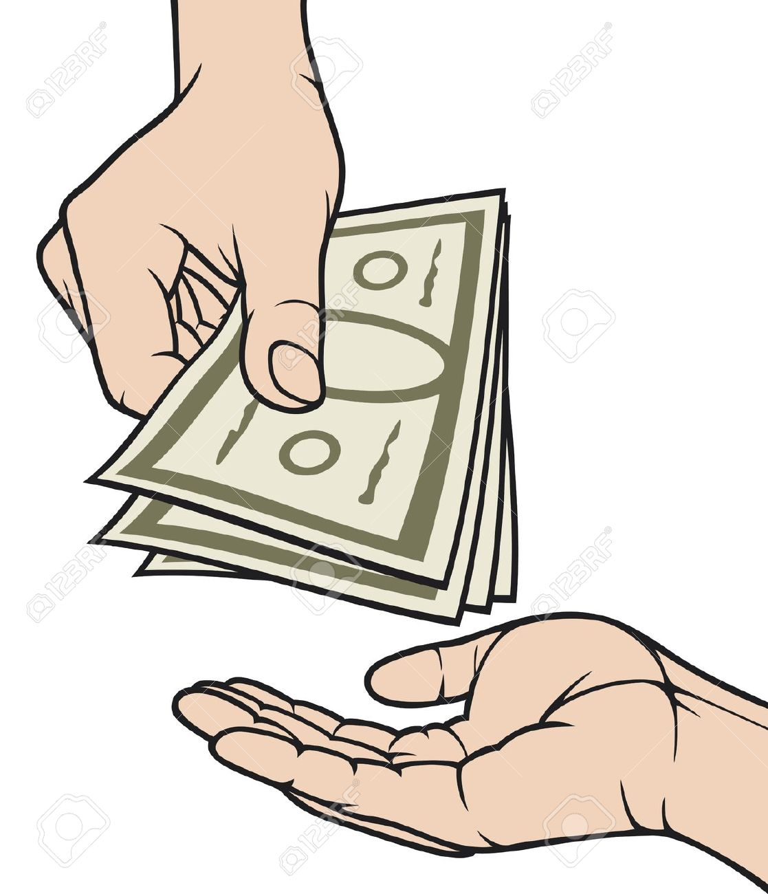 Cash In Hand Clipart.