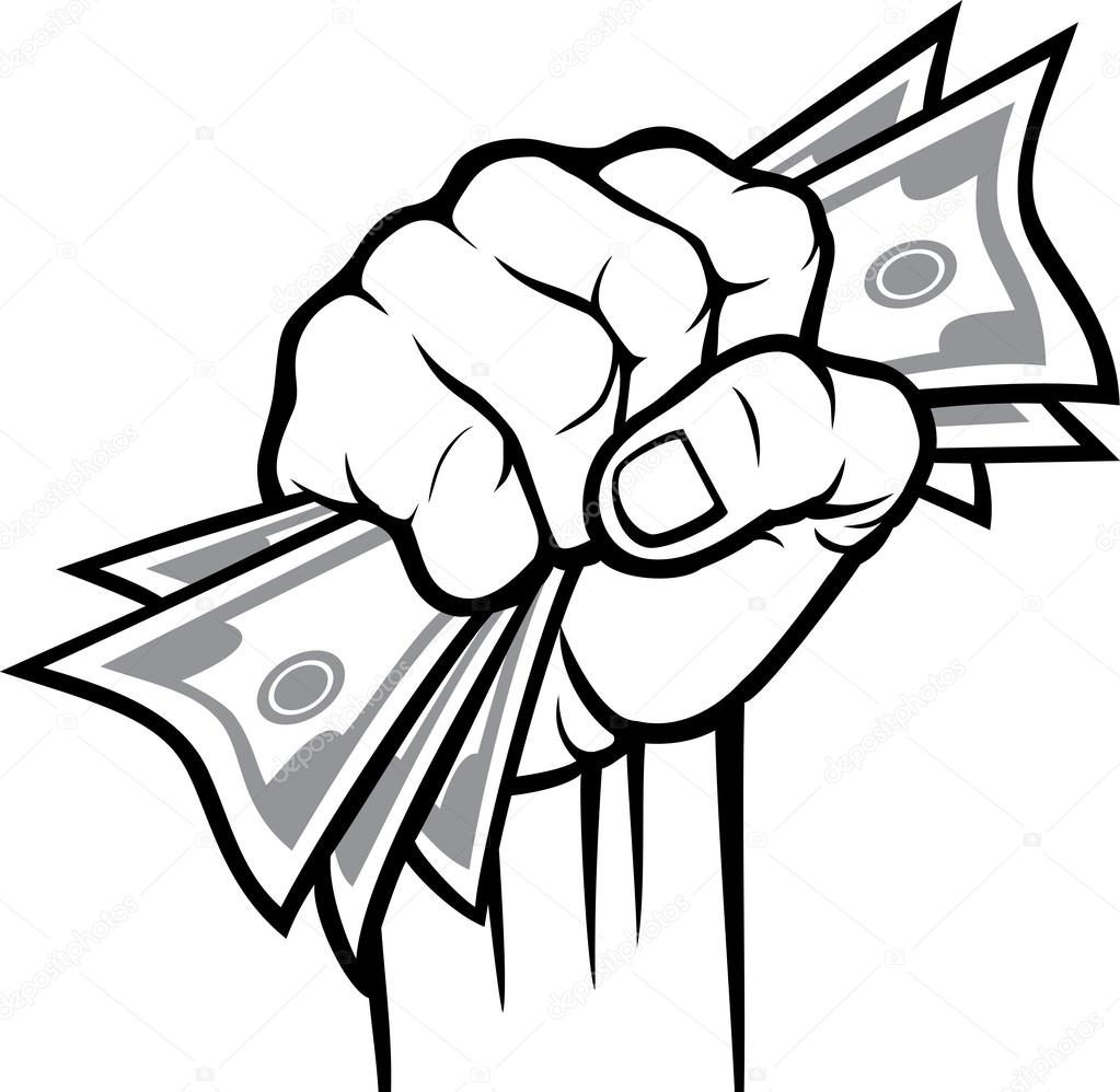 Hand Holding Cash Clipart.