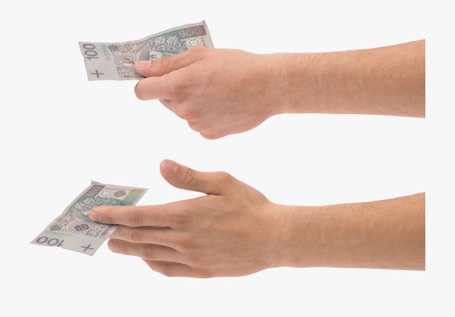 Hand Holding Money Two.