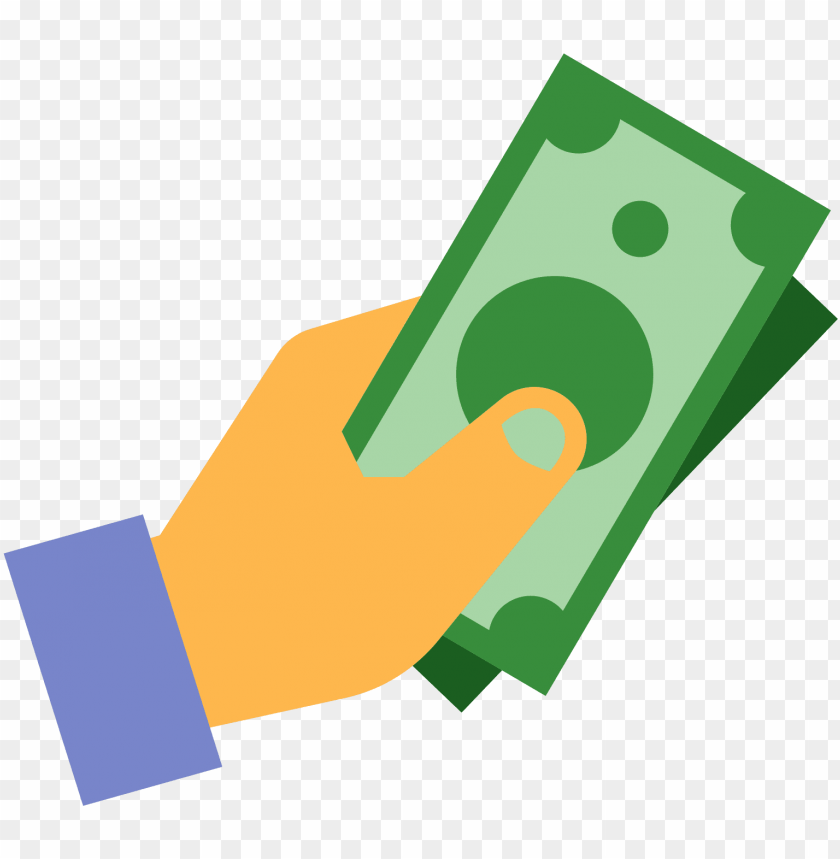 cash in hand icon PNG image with transparent background.
