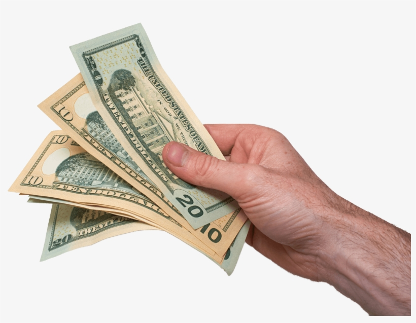 Hand With Money Png.