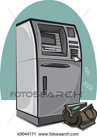 Atm cash machine Clipart.