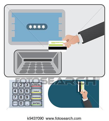 Cash machine ATM Clipart.