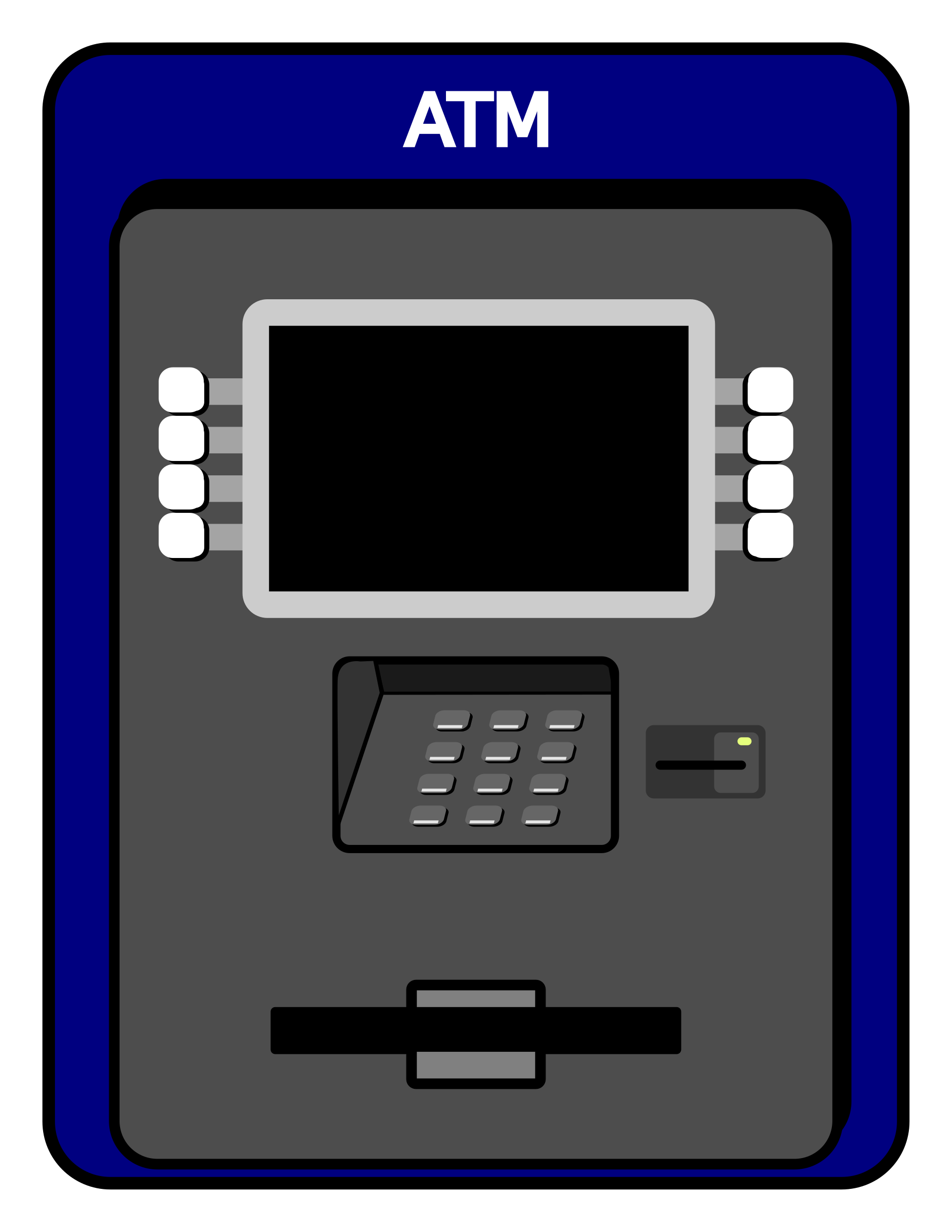 Clipart atm machine.