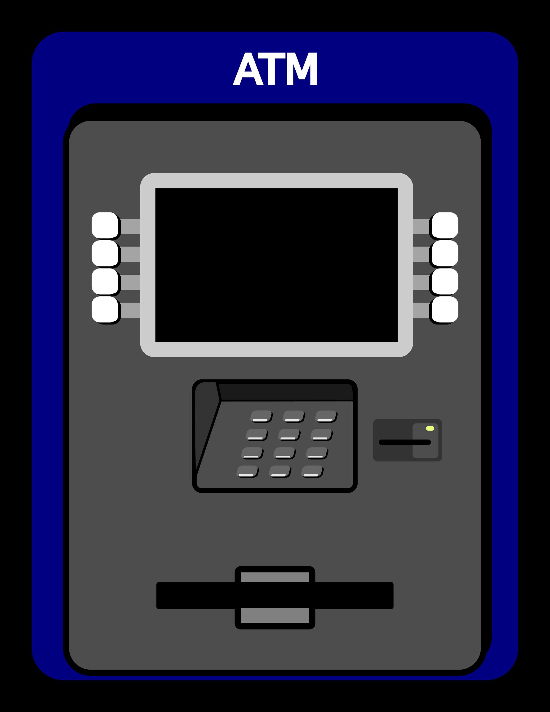 Clipart atm machine.