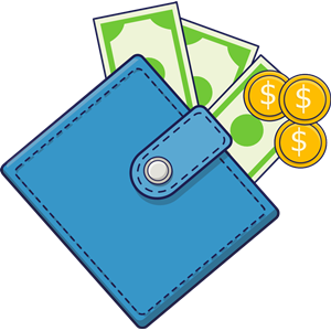 Wallet with Cash clipart, cliparts of Wallet with Cash free download.