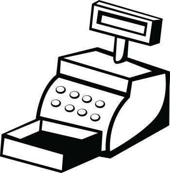 Cash register clipart.