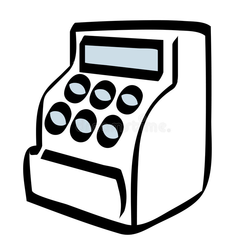 Cash Register Stock Illustrations.