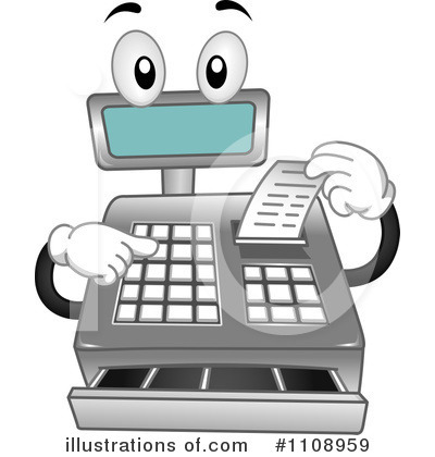 Cash Register Clipart #1108959.