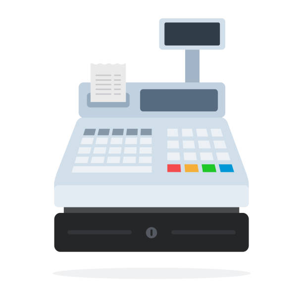Best Cash Register Illustrations, Royalty.