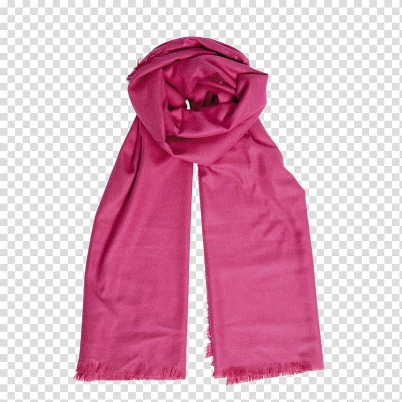 Scarf Cashmere wool Pink Blue Rose, rose transparent.