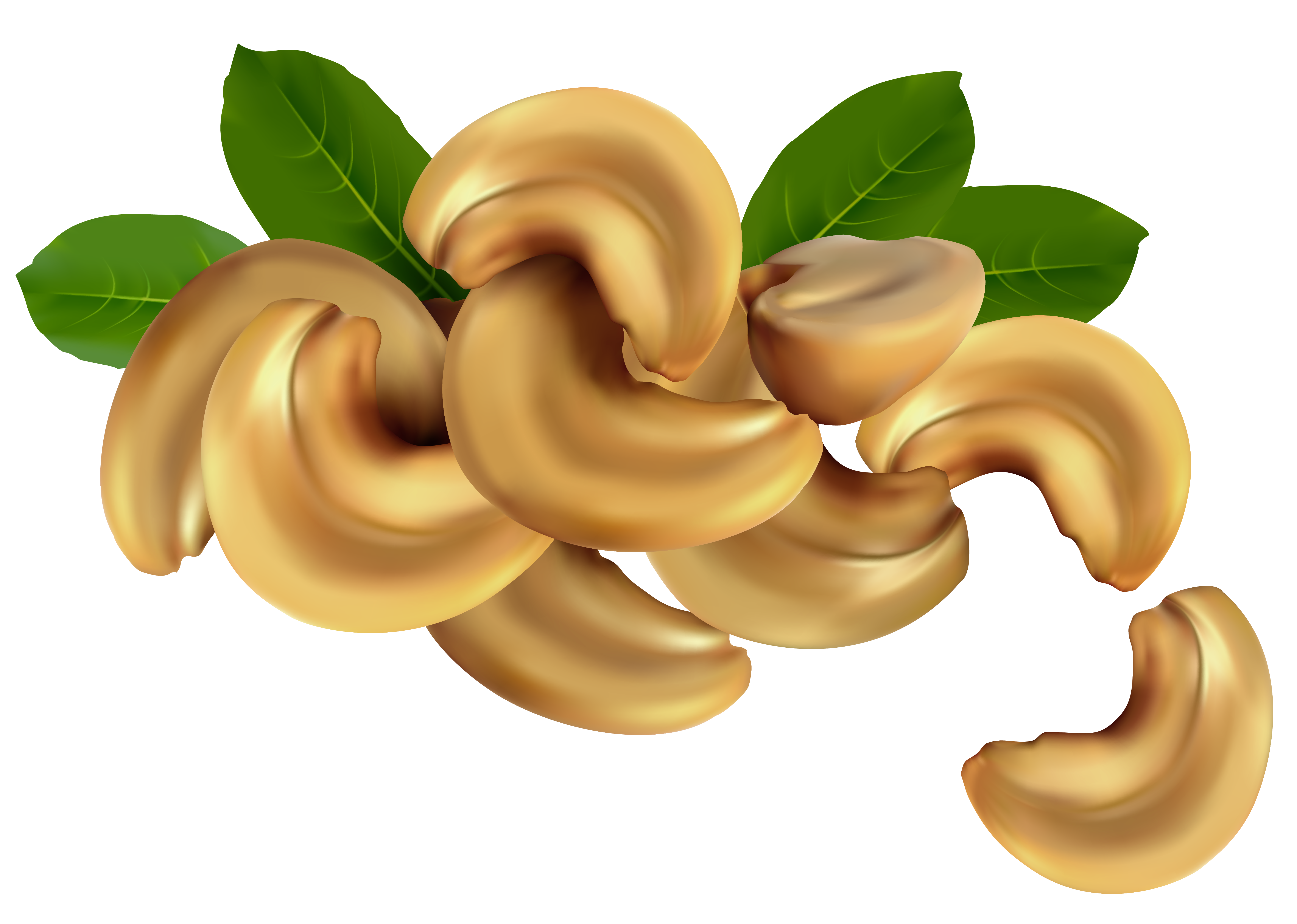 Cashew Nuts PNG Clipart Image.