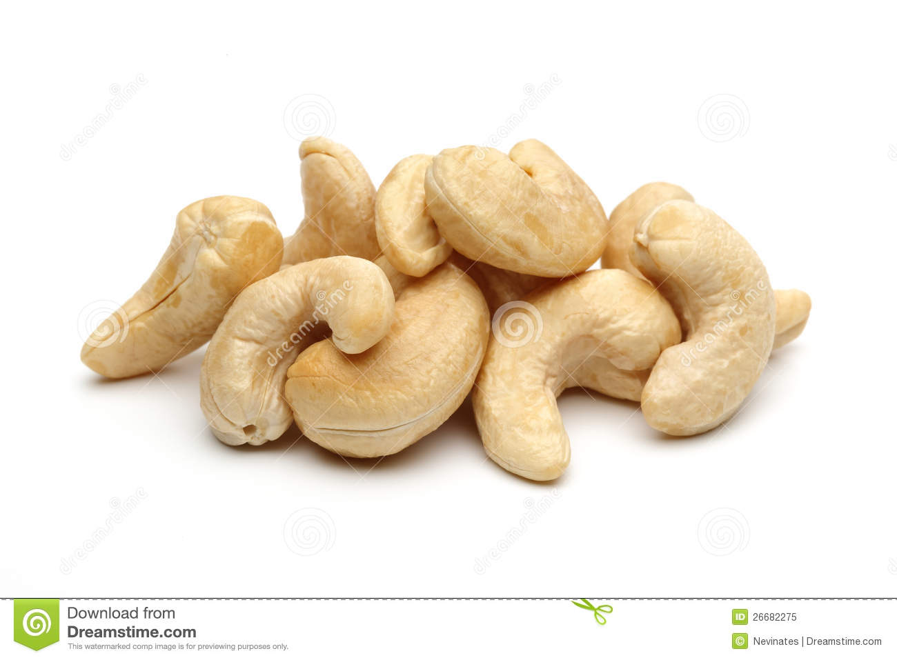 Cashew Nuts Stock Photography.