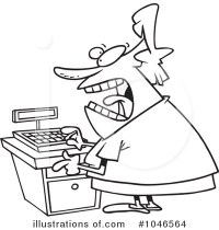 √ Cashier Coloring Page.