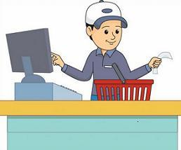Free Cashier Clipart.