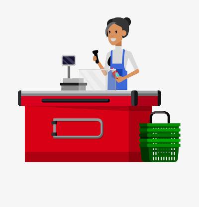 Cashier clipart cashier desk, Cashier cashier desk.