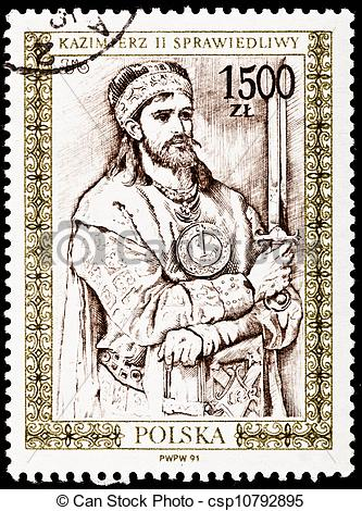 Stock Illustration of Casimir II the Just as drawn by Jan Matejko.