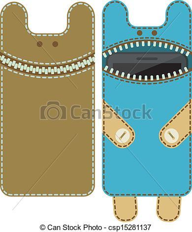 Vector Clip Art of Case for mobile phone.