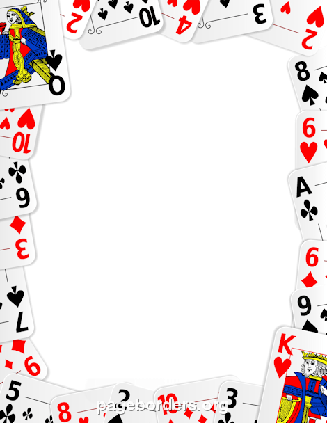 Playing Card Border: Clip Art, Page Border, and Vector.
