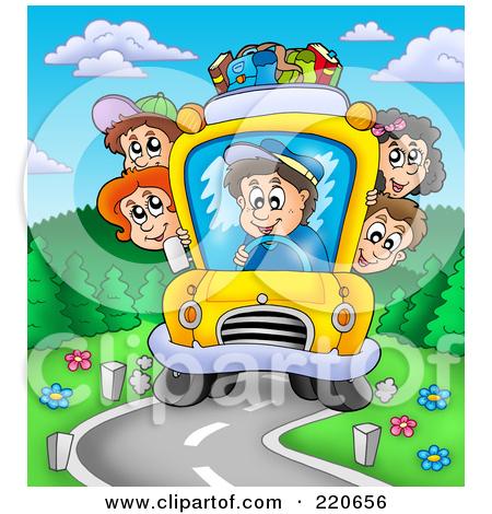 Road Trip Bus Clipart.