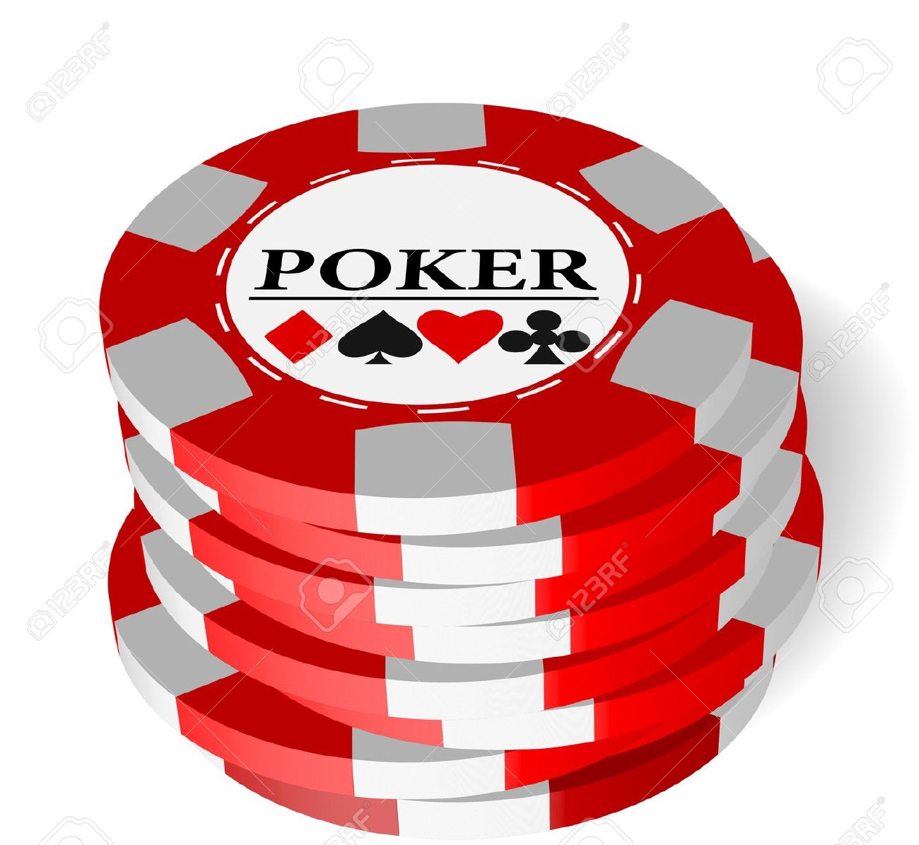 Poker Chips Clipart Free.