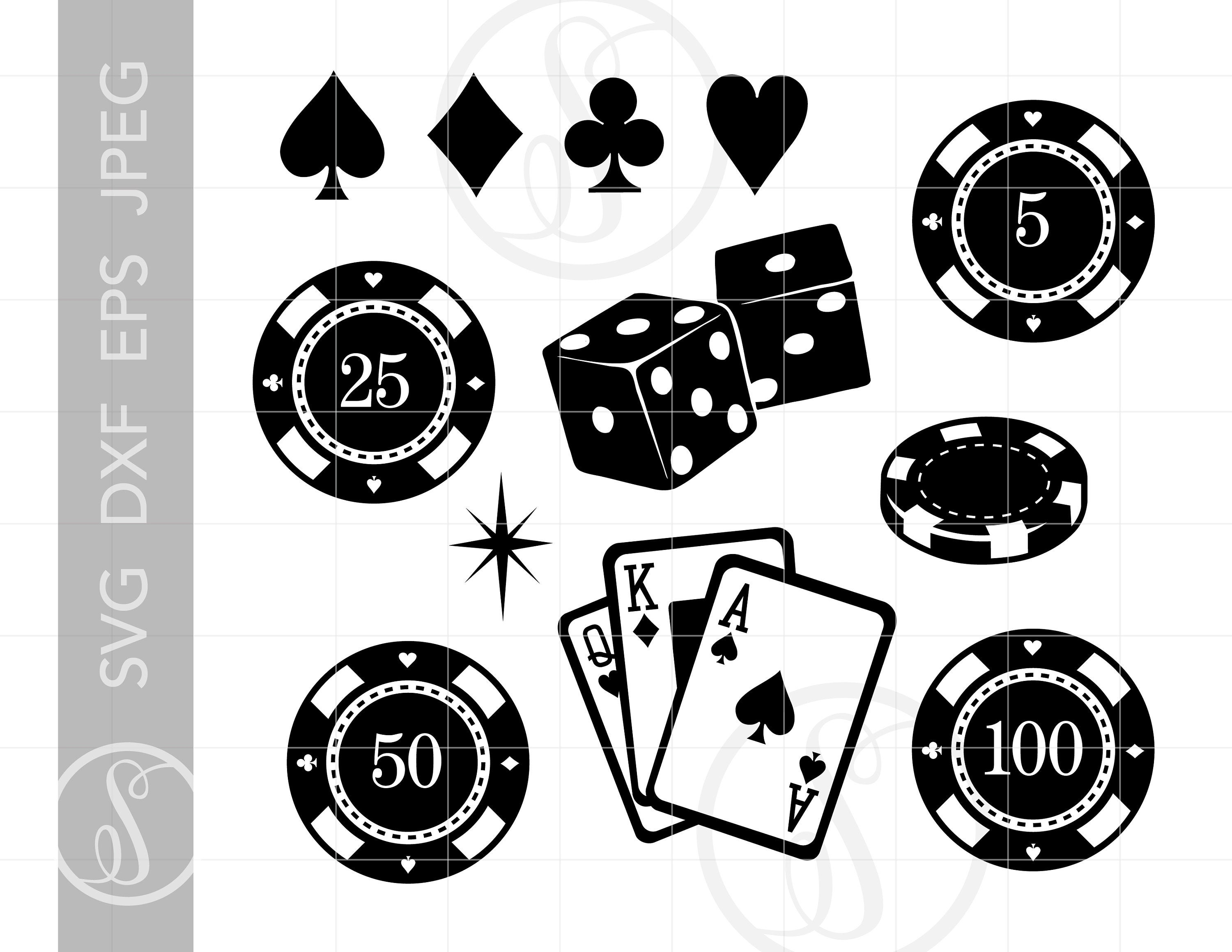 CASINO Clip Art Svg Cut Files Clipart Downloads.