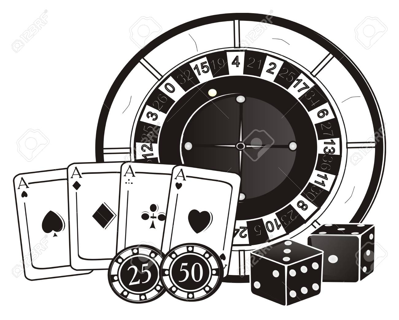 casino clip art black and white 20 free Cliparts.