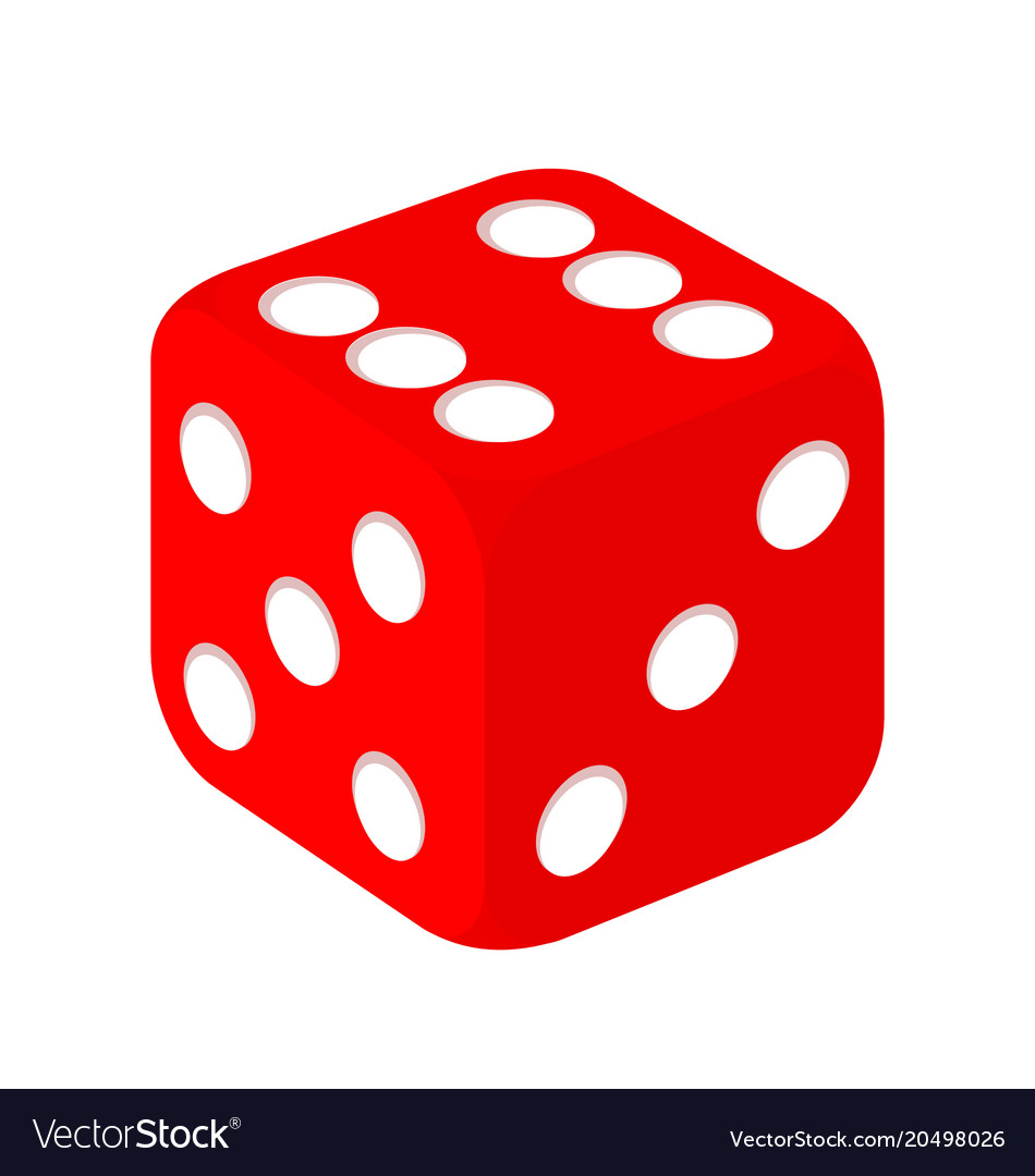 Simple red casino dice.