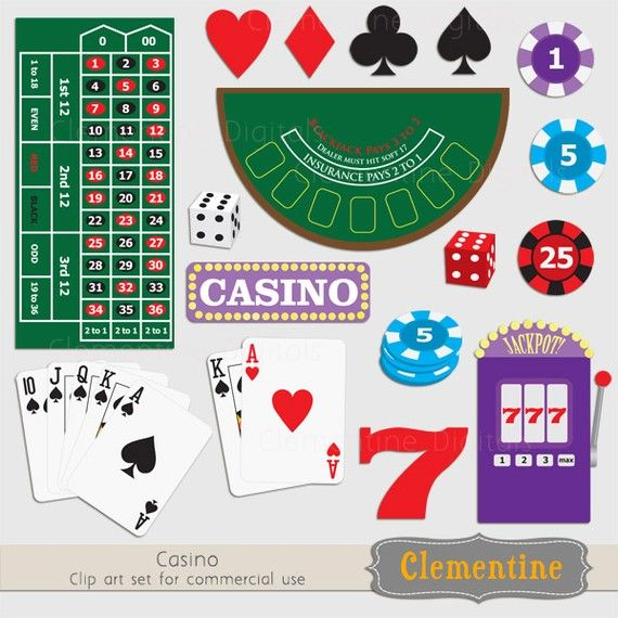 Poker clip art images, casino clip art, royalty free images.