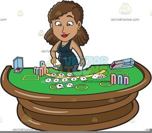 Casino Dealer Clipart.