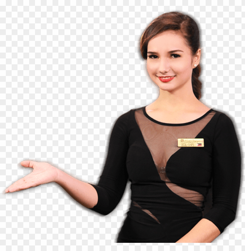 sexy casino girl PNG image with transparent background.