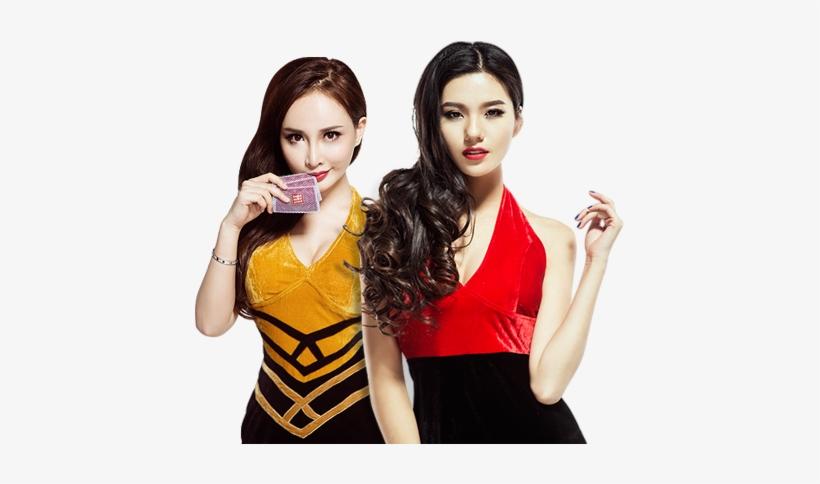 Asian Casino Girls Png Transparent PNG.