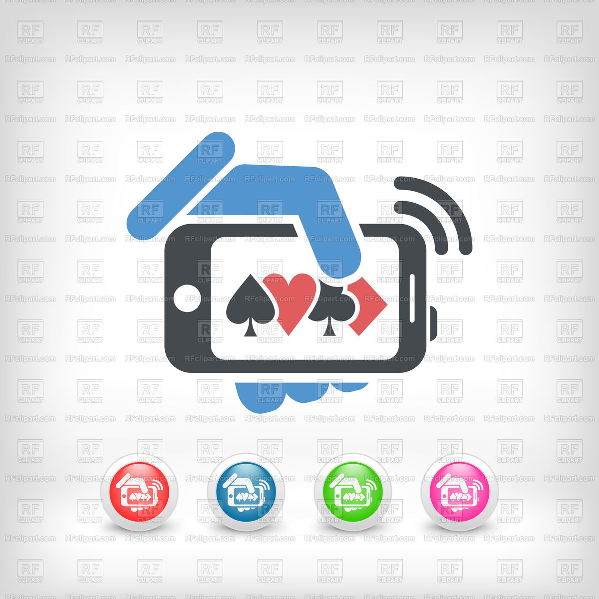 Online casino icon Stock Vector Image.
