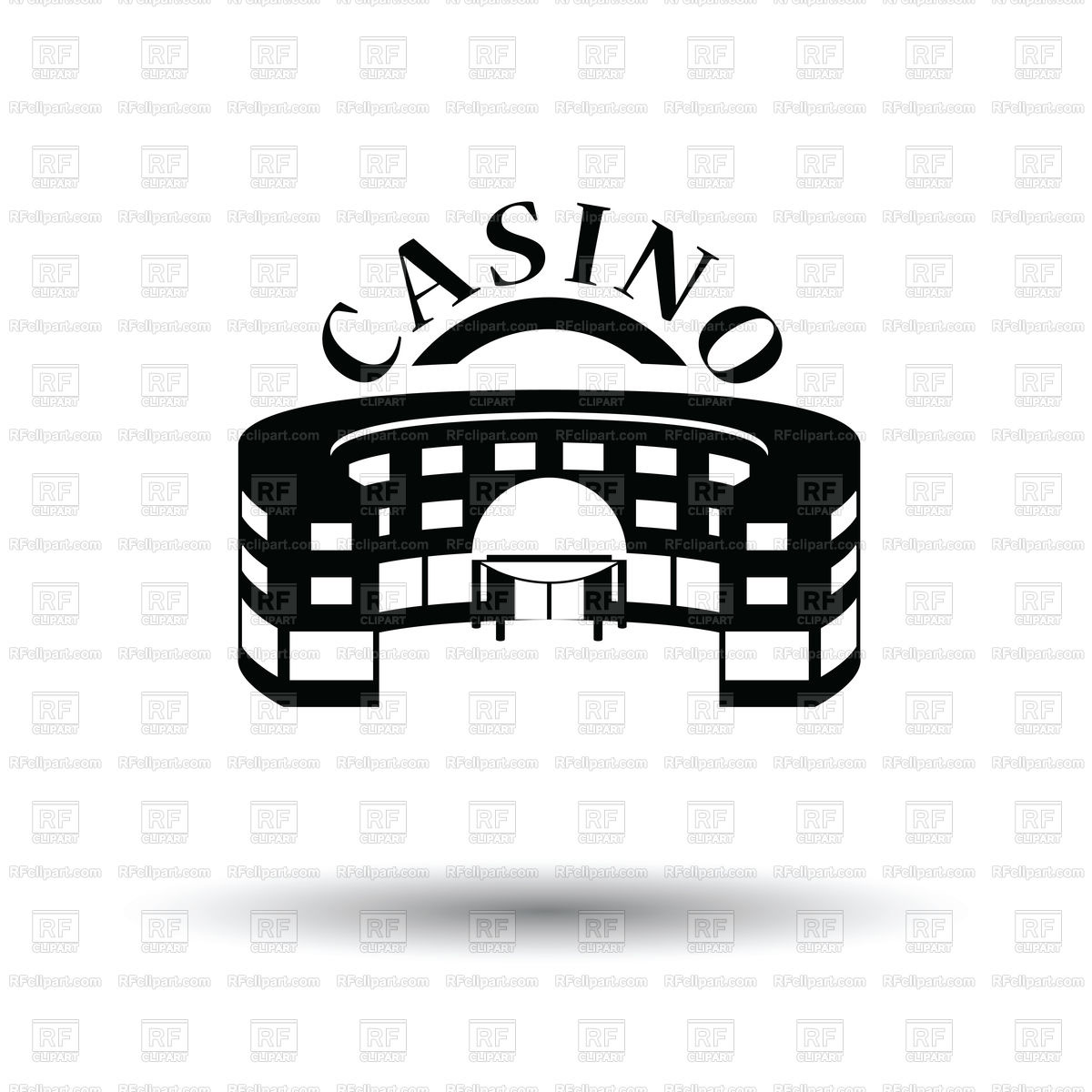 Casino building icon Stock Vector Image.