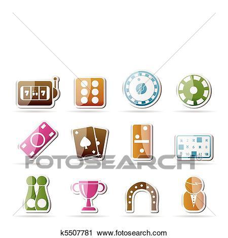 Gambling and casino Icons.