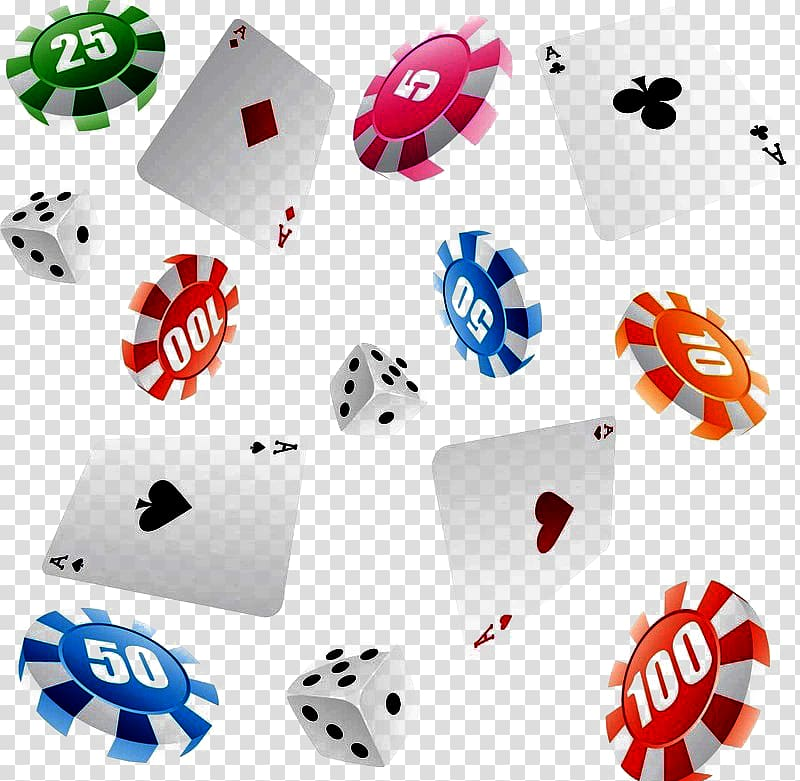 Poker chips and playing cards illustration, Gambling Casino.