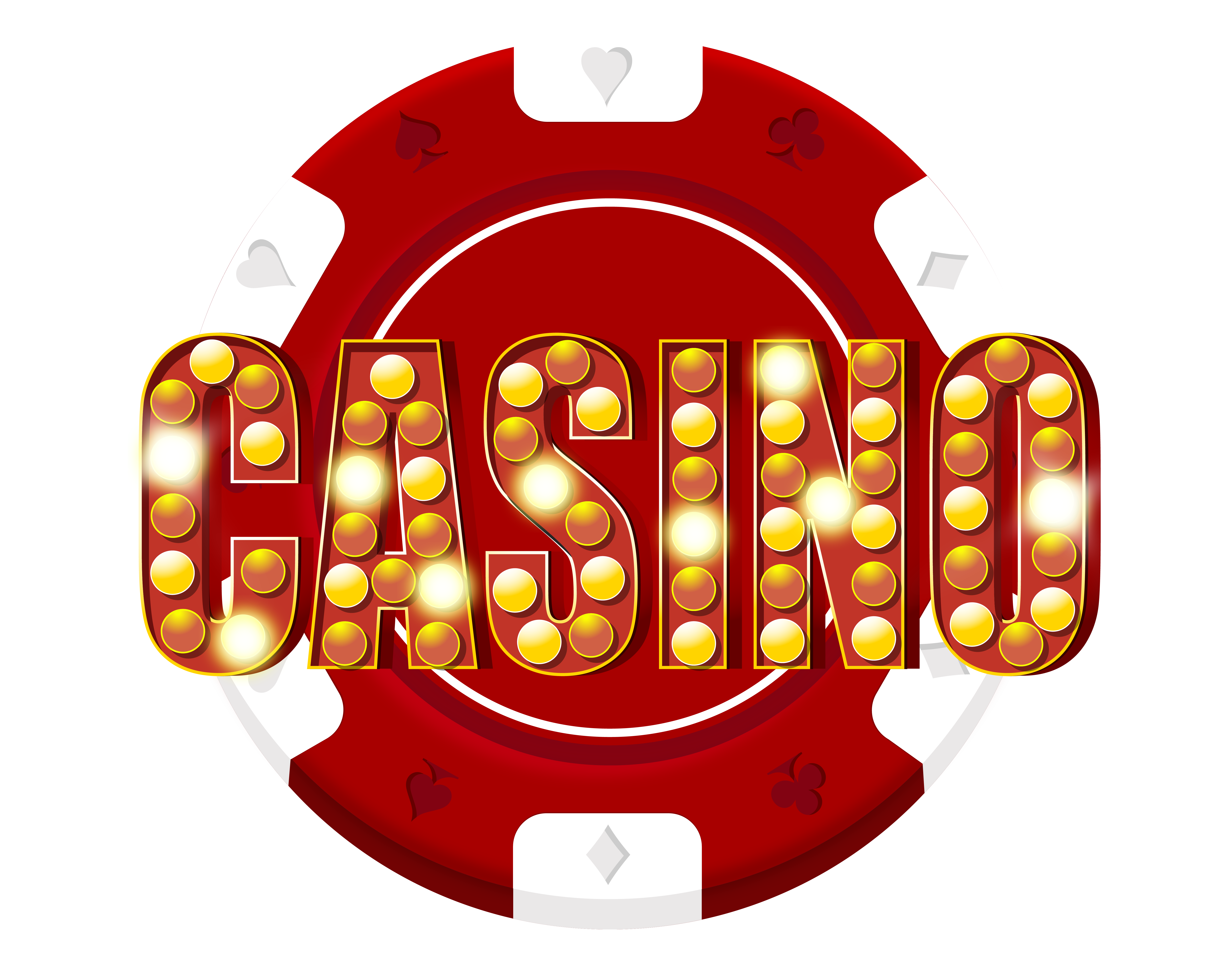 Red Casino Chip Decoration PNG Clip Art.