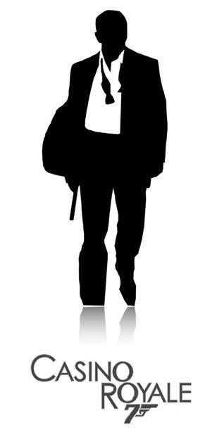 James Bond Casino Royale Silhouette.