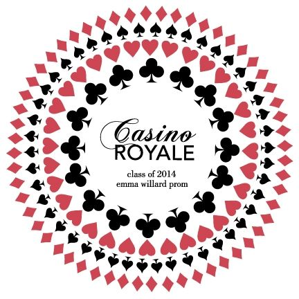 Here is our design for the Emma Willard Casino Royale Prom.