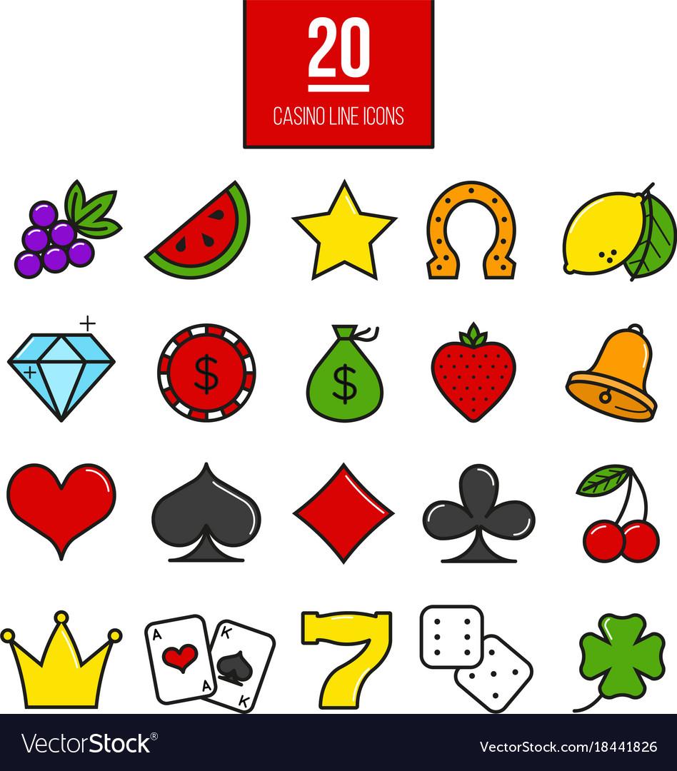 casino symbols clip art #18
