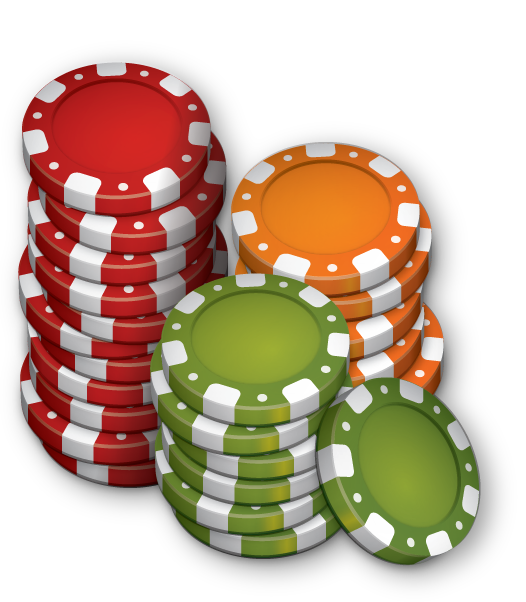 Adobe Illustrator pure vector Casino Tokens.