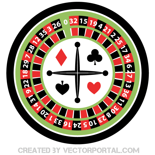 Casino Roulette Wheel Vector.